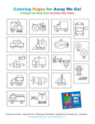 Away We Go Transportation Party Printables Coloring Pages From