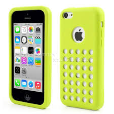 Silicone Case for iPhone 5c with 35 Hollow holes and Logo Cutout