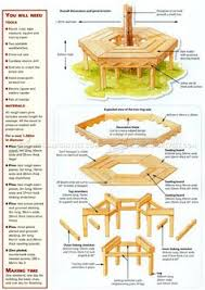round picnic table built around tree 1946 how to plans round
