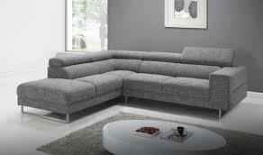 canapés d angle en tissu canapé design gris foncé pas cher