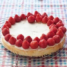 erdbeer biskuit kuchen
