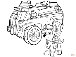 Police Car Coloring Page Paw Patrol Chase Free Printable Gallery Ideas