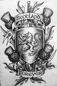 Cool Scotland Forever Tattoo Design
