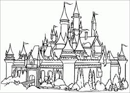 Sleeping Beauty Castle Coloring Page