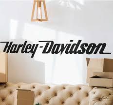 aufkleber harley davidson schrift