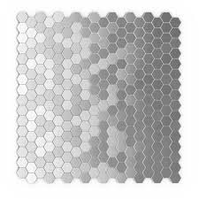 Home Depot Wall Tiles Self Adhesive by Inoxia Speedtiles Hexagonia S2 Silver 11 26 In X 11 89 In X 5 Mm