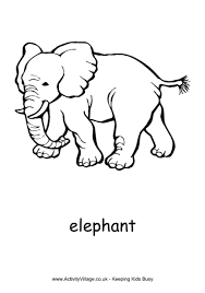Elephant Colouring Page 3