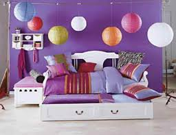 Inspiration Bedroom Colorful Balls Hanging Lamps Over White