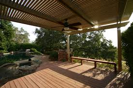 Patio Covers Las Vegas by Decorating Charming Alumawood Patio Cover In Tan With Ceiling Fan