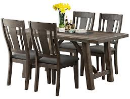 Cash 5 Piece Dining Set Table And 4 Chairs Walnut Finish Large