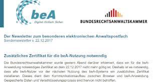 Brak Mitteilungen Anwaltspostfach Offline Berichte über Sicherheitslücke