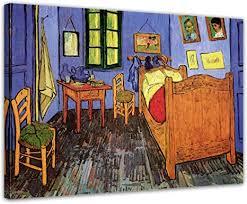 wandbild vincent gogh vincents schlafzimmer in arles 40x30cm quer alte meister berühmte gemälde leinwandbild kunstdruck bild auf leinwand