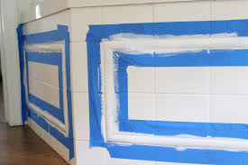 Bathroom Tile Paint Colors by The Picket Fence Projects Operation Goodbye Green Tile Spray