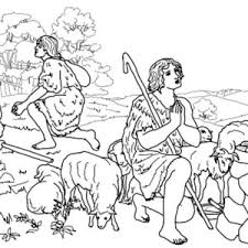Cain And Abel Coloring Page 13 Interesting Pages 9 Fine Design