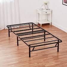 mainstays 14 high profile foldable steel bed frame with under bed
