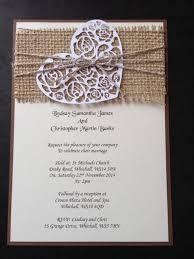 Handmade Rustic Vintage Shabby Chic Hessian Wedding Invitations