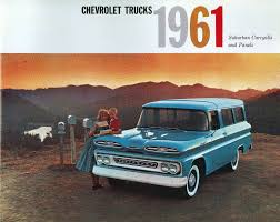 100 Panel Trucks 1961 CHEVROLET SUBURBAN CARRYALLS PANEL TRUCK SALES BROCHURE EBay