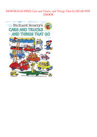 100 Go Cars And Trucks DOWNLOAD FREE And And Things That READ PDF