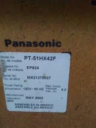 Sony Kdf E42a10 Lamp Light Flashing by My Panasonic 50