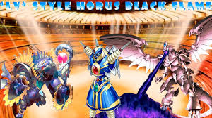 deck lv style3 horus the black flame dragon ygopro youtube