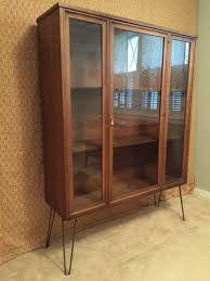 Mid Century Modern Glass Fronted Display Cabinet By Broyhill Brasilia