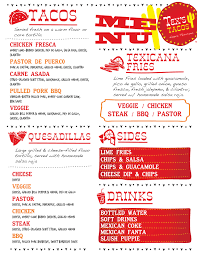 Menu | Tex's Tacos 333tacomenu Best Food Trucks Bay Area Truck Festival Menu Brochure Street Template Design Bombay For Bandra Kurla Hot Dog Swizzler Expands Its Allamerican At A New For With Handdrawn Menu The Guava Tree Eugenes Chicken Food Solarfmtk Hill Country Bbq Poketothemax Food Truck Menu Wicked Las Condes