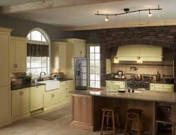 amazing kitchen design with cabinet and kitchen island also track