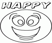 Printable Emotion Happyblank Coloring Pages
