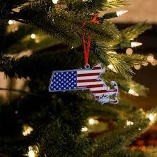 Massachusetts America Christmas Ornament