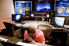 Image Smith Works At His Recording Studio