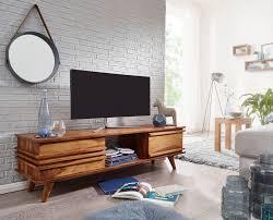 finebuy lowboard massivholz kommode 145 cm tv board ablage fach landhaus stil unterschrank tv möbel echt holz hifi rack 41 cm hoch sideboard tief deko