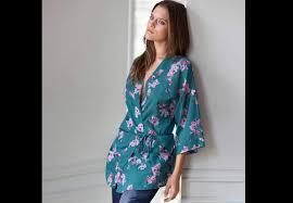 kimono robe de chambre femme kimono lepeignoir fr
