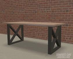X Leg Dining Table Plans