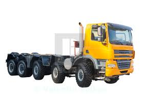 100 Truck Licence New Model Semi Heavy Truck Isolated Over White Background License