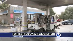 100 Postal Truck Fire VIDEO Mail Truck Catches Fire In North Haven Wfsbcom
