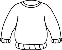 sweater clipart black and white 5
