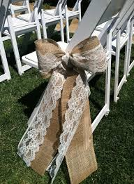 Source Sylviaweddxyz Burlap And Lace Wedding Ceremony Bow Aisle Decorations