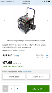 Kobalt Tile Saw Kb7004 by Lowes Kobalt Air Compressor 20 Gallon Ac Air Conditioner And