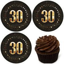 30 geburtstag essbar torten bild muffin aufleger deko