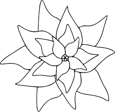 Amazing Printable Poinsettia Clip Art With Coloring Page And Stained Glass