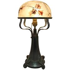 Duffner And Kimberly Lamp Base by Antique Duffner And Kimberly Art Nouveau Mosaic Table Lamp Grape