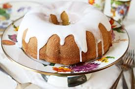 Vanilla Bundt Cake on MacKenzie Childs Cakestand