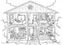 Fantastic Coloring Page House Free Pages For Kids