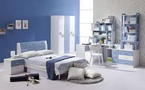 Beautiful Blue White Wood Pleasing And Bedroom Designs