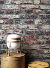 newroom vliestapete steintapete anthrazit rot ziegelstein backstein mauerwerk klinker tapete steinoptik wohnzimmer schlafzimmer flur tapete