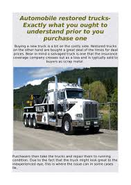 100 Restored Trucks Automobile Restored Trucks Exactly What You Ought To Understand Prio