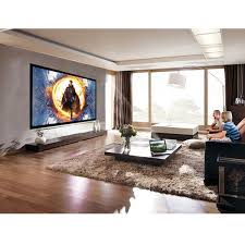 Costway 120 Aluminum Fixed Frame 169 Projector Screen Velvet Matte White Home Theater