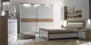 komplett schlafzimmer set schrank bett led spiegel kommode