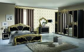 barock schlafzimmer in schwarz gold 6 teilig