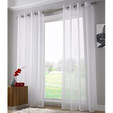 Sheer Cotton Voile Curtains by Plain Voile Curtain Panel Ring Top Heading Eyelet Voile Curtains